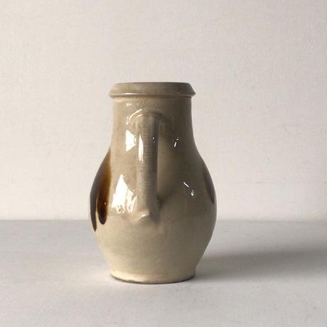 益子焼  6寸ピッチャー 打掛 把手壺 水差 花器  ジャグ。高さ18cm  小ぶりな実用水差し。民藝運動