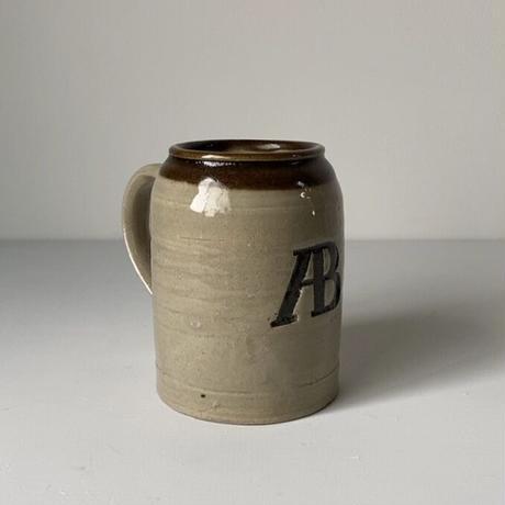 益子焼 濱田庄司とアサヒビールのコラボプロダクト 通称ABビアジョッキ 民藝 ヴィンテージフォークアート ビールジョッキ ビアマグ