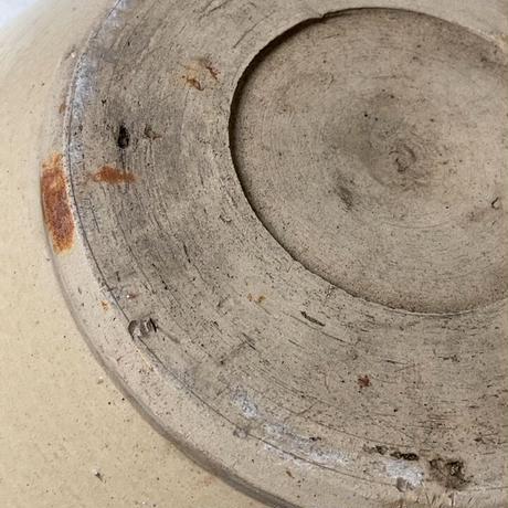 古い甕 約36cm 灰釉 特大こね鉢 昭和初期 民藝甕 瓶 メダカ鉢 金魚鉢 睡蓮鉢 水栽培 ガーデニング  ビオトープ
