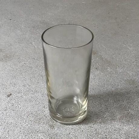 アンカーグラス  タンブラー  CAN  高さ約15cm 島田製作所  無色ややグレー  昭和初期〜中期 完品