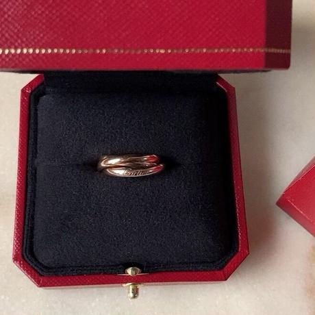 Cartier カルティエ トリニティリング ピンクゴールド単色 約5.8g #55 AU750 K18 PG 付属品フル装備
