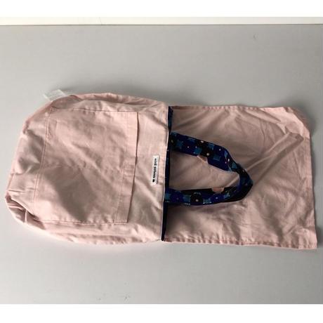 mina perhonen ミナペルホネン  フォレストリング    ベルベット  ブルー系/ピンク   ビームス別注 トートバッグ  中古美品