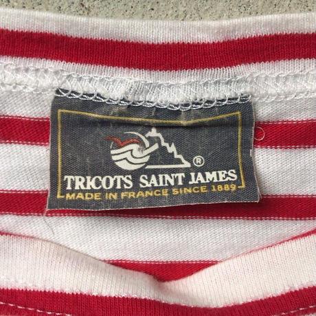 80s St James ヴィンテージ セントジェームス モーレ 旧タグ 赤/白 ボートネックsize T3〜T4 フランス製 made in france