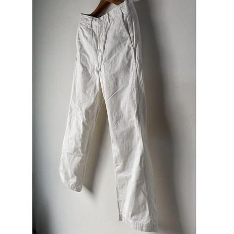 ARTE POVERA  アルテポーヴェラ  ユーズドリペア加工 (ペンキ加工・ホール補修加工)白い綿パン ワークパンツ 中古美品