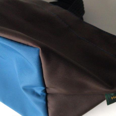 Herve Chapelier  エルベシャプリエ  901N (ナイロン 舟型トートS)  ミニトート バッグ 鞄 モカ/オーシャン   made in france  中古美品