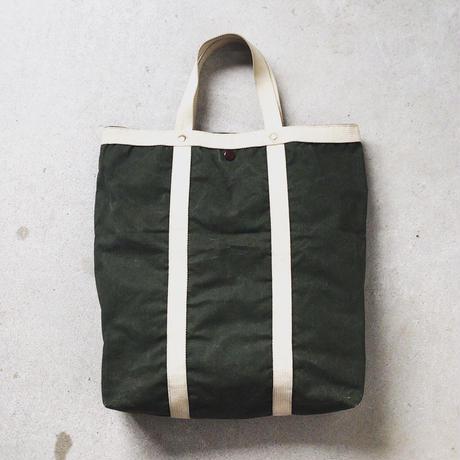 60s ヴィンテージトートバッグ オイルドコットンの様な細かい織りの肉厚キャンバス。生地の質感・エイジング最高の仕上がりです。