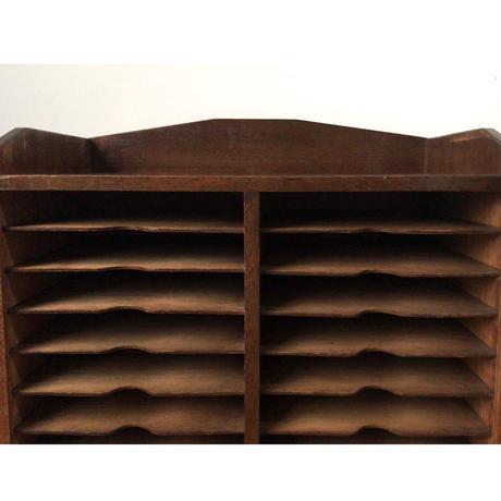 アンティーク カルテ棚24段 + 引き出し1杯 昭和 戦前ヴィンテージ家具  美品