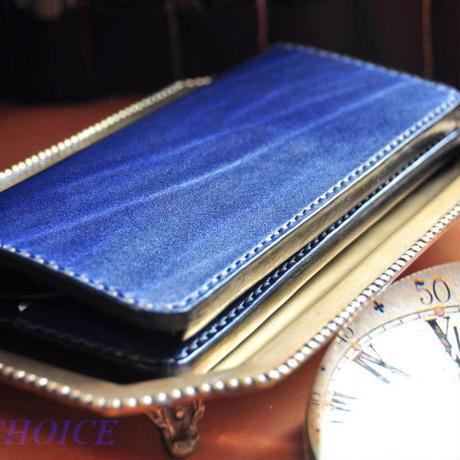 革の宝石・ルガトー・長財布(紺)