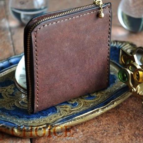 イタリアンレザー・革新のプエブロ・L型財布(ショコラ)