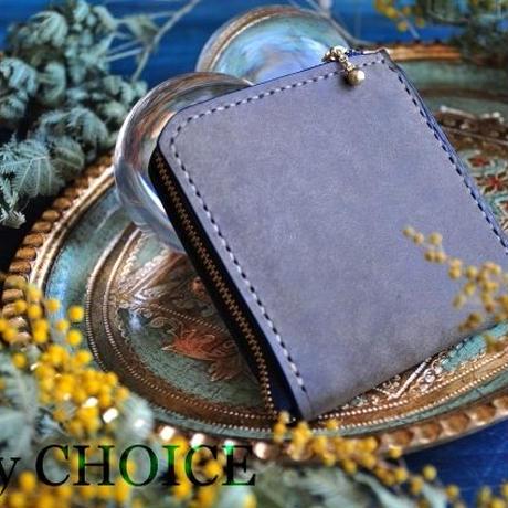 イタリアンレザー・革新のプエブロ・L型財布(グリージオ)