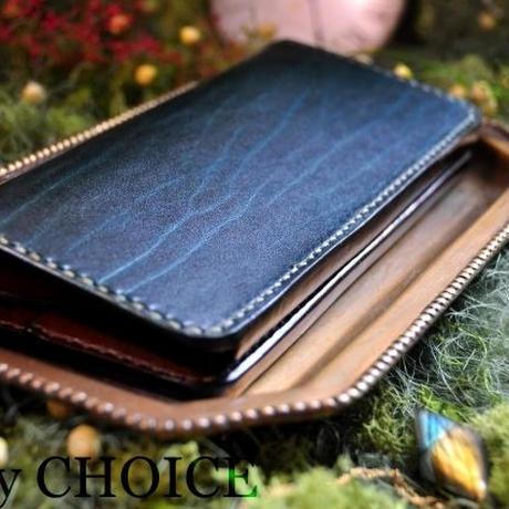 革の宝石・ルガトー・長財布(緑×茶)