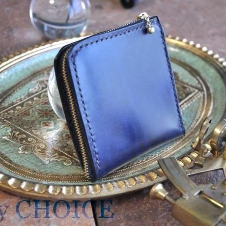 革の宝石ルガトー・L型財布(紺)