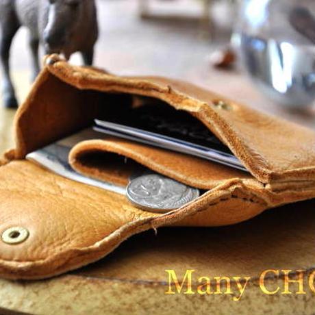 やみつきエルクのミニマム財布(黄茶)