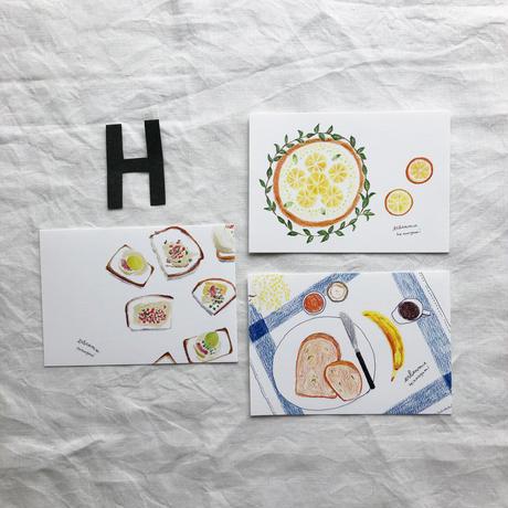 ポストカードセット:H 食べ物