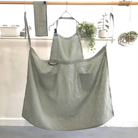 mom Apron with Cloth  (olive)