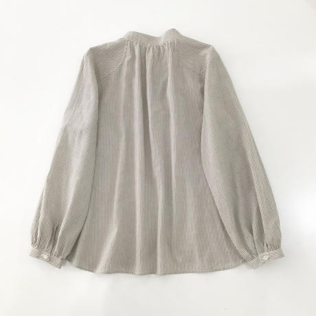 organic cotton spring P blouse  (brown stripe)