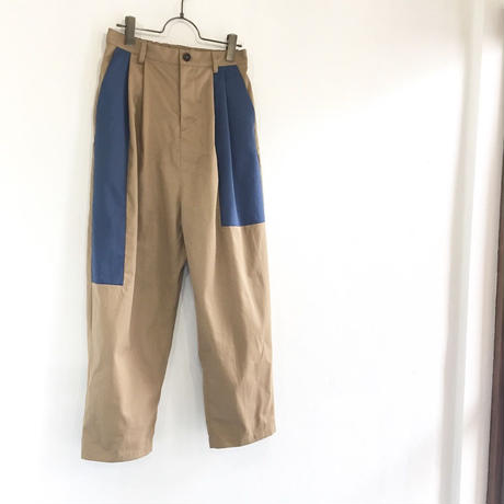 contrast big tapered pants
