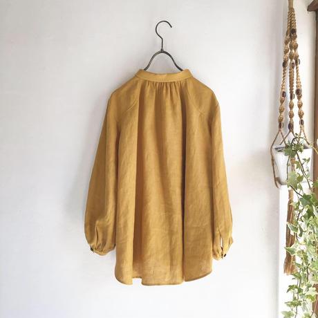 chibi collar P blouse  (mustard)