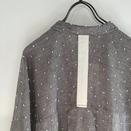 cut-dobby dolman shirt