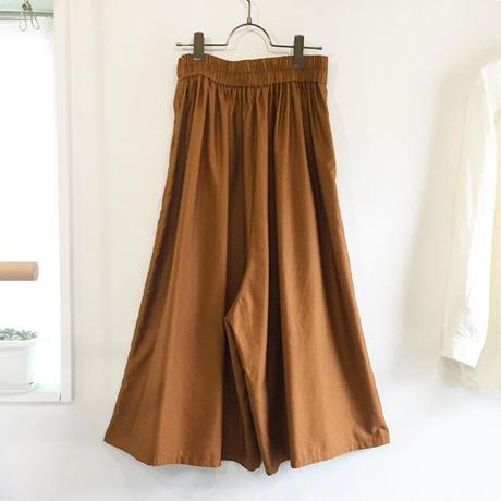 cotton cupro wrapped gather culottes