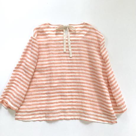 back ribbon top (orange stripe)