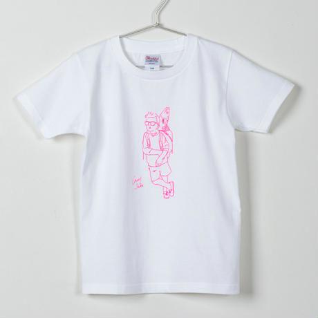 キャリー鯖Tシャツ(キッズ) ホワイト