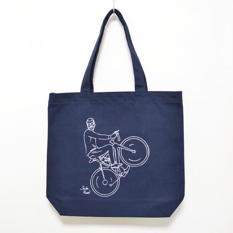 バイク鯖トート ネイビー
