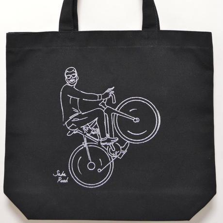 バイク鯖トート ブラック