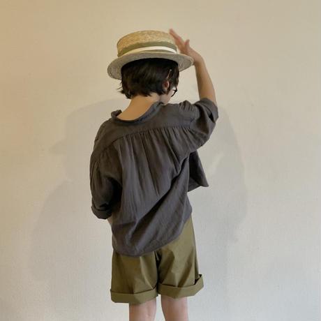 KIDS: smock shirt -D.GRAY