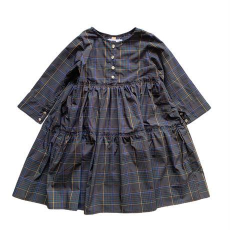 doll style dress - multi check