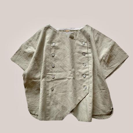 KIDS : double shirt 110cm -  light khaki