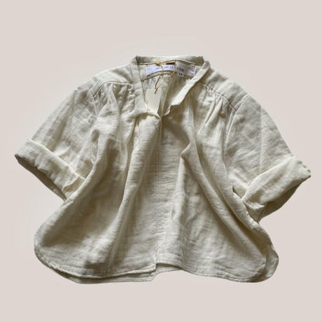 BABY : smock shirt -ecru