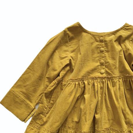 doll style dress - light corduroy  MUSTARD