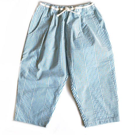 cropped pants - retro blue stripes