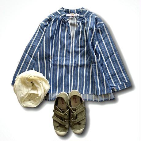 smock shirt - denim stripes