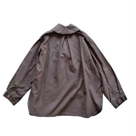 shawl collar shirt - GRAY
