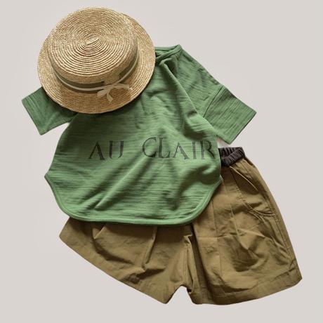 KIDS: logo T-shirt  - forest green