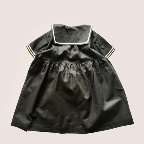 KIDS : sailor dress - BLACK  130cm