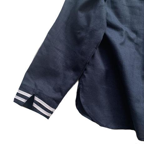 sailor shirt L/S- cotton&linen BLACK