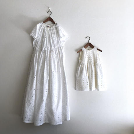 大人用 gather dress - white race