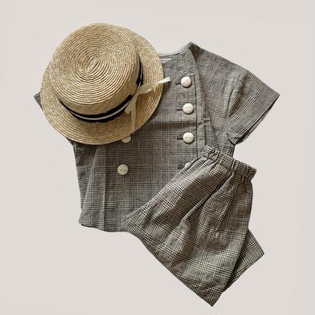KIDS: double shirt 110cm - gren check