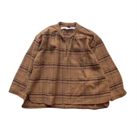 smock shirt - cotton herringbone  GRAY