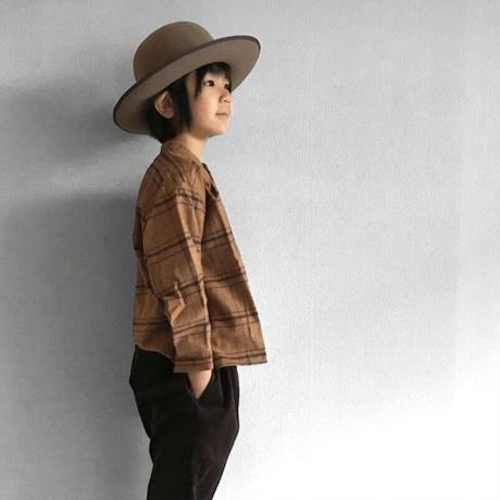 smock shirt - cotton herringbone  NAVY