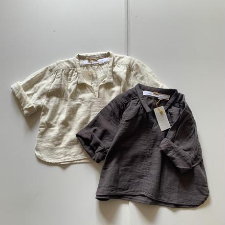 BABY : smock shirt -D.GRAY