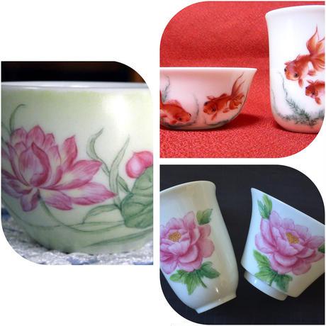 中国茶器用(花・金魚)シート(限定7シート)