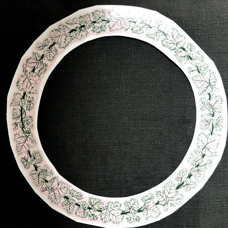 マイセン様式ワインリーフ/ケーキ皿用アウトライン転写紙