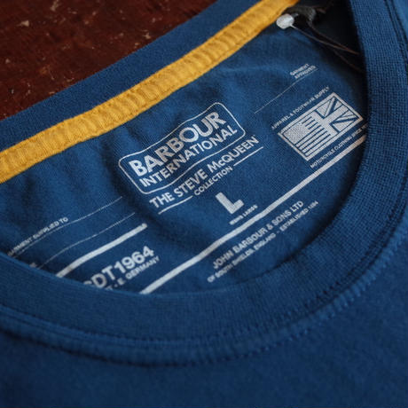 """BARBOUR INTERNATIONAL  """"THE STEVE McQUEEN COLLECTION"""" SIGNATURE TEE"""