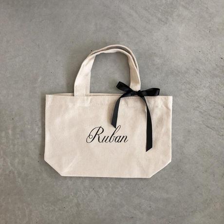 Ruban キャンバストートバッグ S (キナリ:サテンリボン)