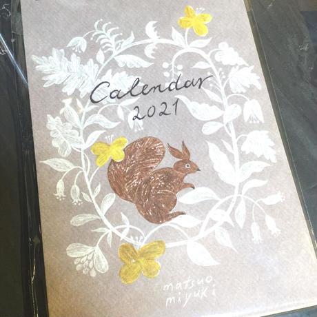 松尾ミユキ 2021年 卓上カレンダー