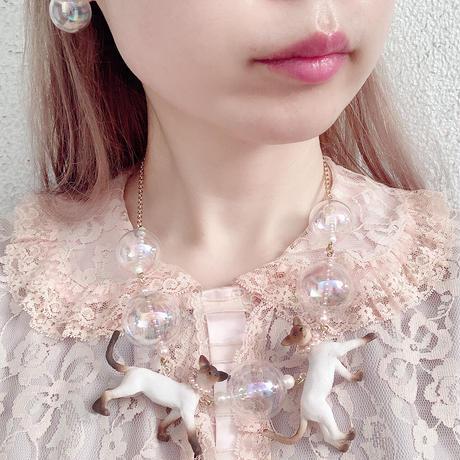 Sedmikrasky オーロラバブルネックレス/シャム猫